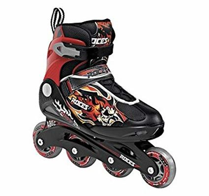 Roces Kid's Boys Compy Fitness Inline Skates Blades Black/Red 400808 Review