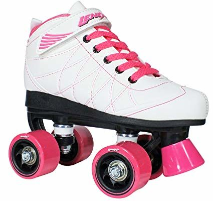 Lenexa Hoopla Kids Roller Skates for Kids Children – Girls and Boys – Kids Rollerskates – Childrens Quad Derby Roller Skate for Youths Boy/Girl – Kids Skates (White w/Pink Wheels) Review