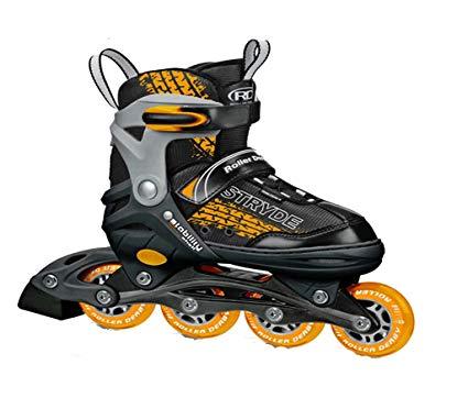 Boys Orange and Black Stryde Children Adjustable Inline Skates Review