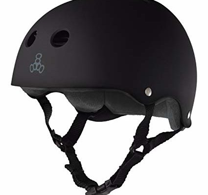Triple 8 Brainsaver Rubber Helmet with Sweatsaver Liner (Black Rubber, X-Large) Review