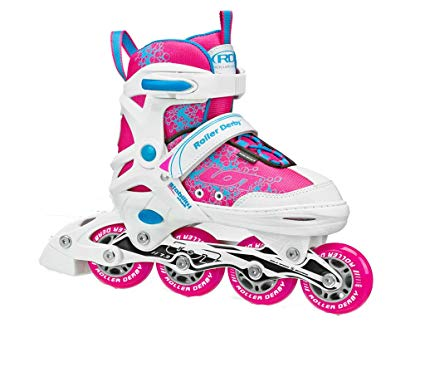 Girls White and Pink Ion Children Adjustable Inline Skates with Aluminum Frame Review