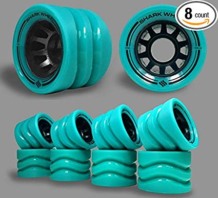 Shark Wheel 58mm Derby Quad Skate Wheels (99a Indoor-8 wheels) in Turquoise Review