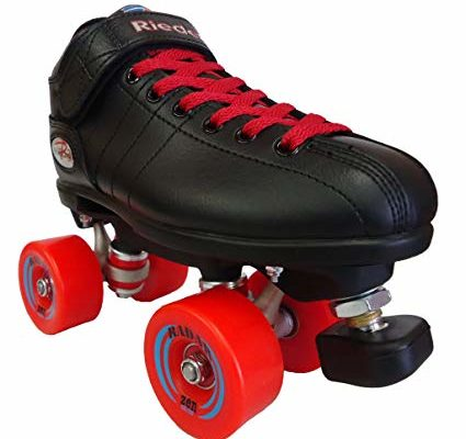 Riedell R3 Zen Outdoor Quad Roller Skates – – Roller Derby Skate w/Two Pairs of Laces (Black & Red) Review