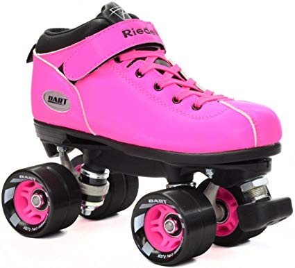 Riedell Pink Dart Quad Roller Derby Speed Skate w/ 2 Laces (Pink & Black) Review