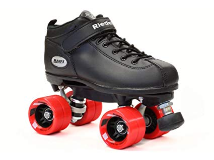 Riedell Dart Black Quad Speed Skates with Matching Laces for Roller Derby Review