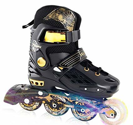 YF YOUFU Adjustable Inline Skates for Kids and Adults, Rollerblades with Light up Wheel, Safe and Durable inline roller skates for Kids, Youth and Adult Review