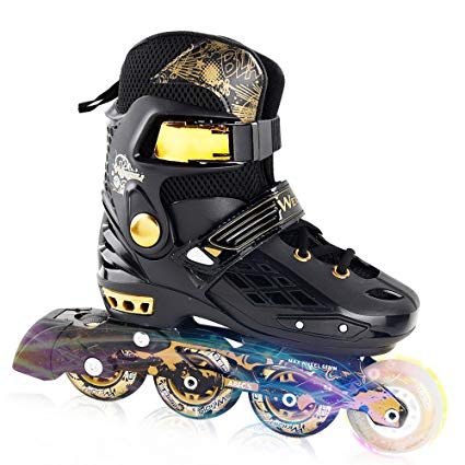 YF YOUFU Adjustable Inline Skates for Kids and Adults, Rollerblades with Light up Wheel, Safe and Durable inline roller skates for Kids, Youth and Adult