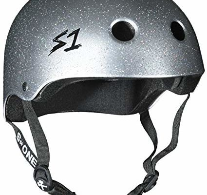 S1 Lifer Silver Gloss Glitter Roller Derby BMX Longboard Skateboard Helmet Size Medium Review