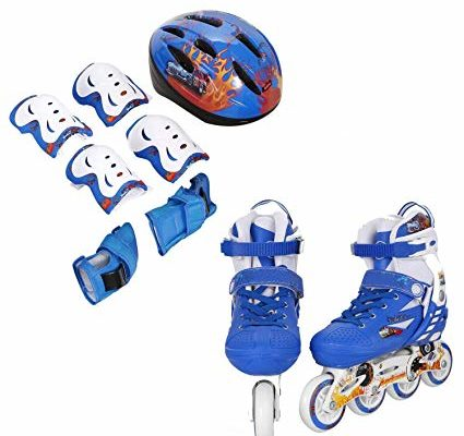PEATAO Kids Adjustable Inline Skates,Children Happy Inline Skates With Illuminating Wheels Durable Comfortable Rollerblades Outdoors Review
