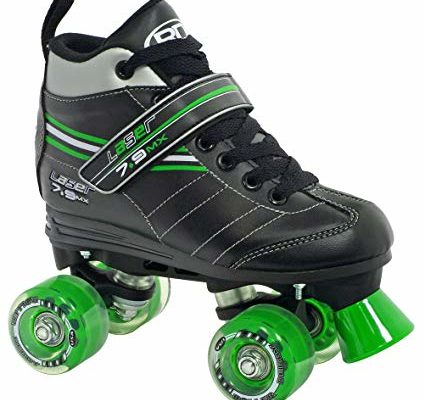 Roller Derby Laser 7.9 MX Boys Speed Roller Skates – 6.0/Black-Green Review