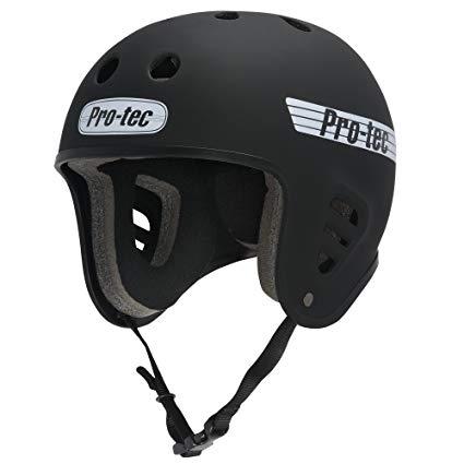 PROTEC Original Full Cut Helmet, Satin Black, X-Large