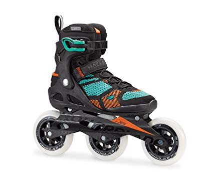 Rollerblade Macroblade 110 3WD Women's Adult Fitness Inline Skate, Black and Emerald, High Performance Inline Skates Review