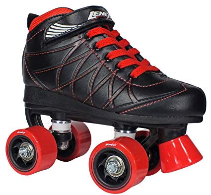 Lenexa Hoopla Kids Roller Skates for Kids Children – Girls and Boys – Kids Rollerskates – Childrens Quad Derby Roller Skate for Youths Boy/Girl – Kids Skates (Black w/Red Wheels) Review